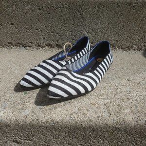 7 for All Mankind striped flats size 7 NEW